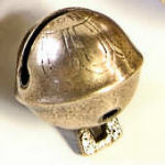 Antique petal bell, shank base, size #4, 1 1/2 in.