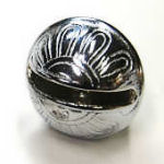 New petal bell, silver color, size #10, 2 1/4 in.
