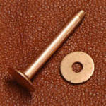Copper rivet and burr, #9