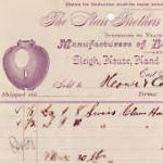 1890 Starr Brothers Bell Co. receipt