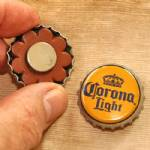 Bottle cap magnets, set of 4