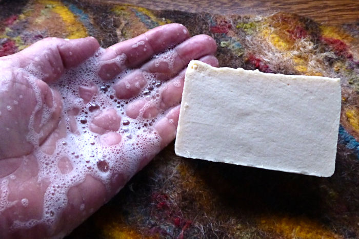 Salting out soap